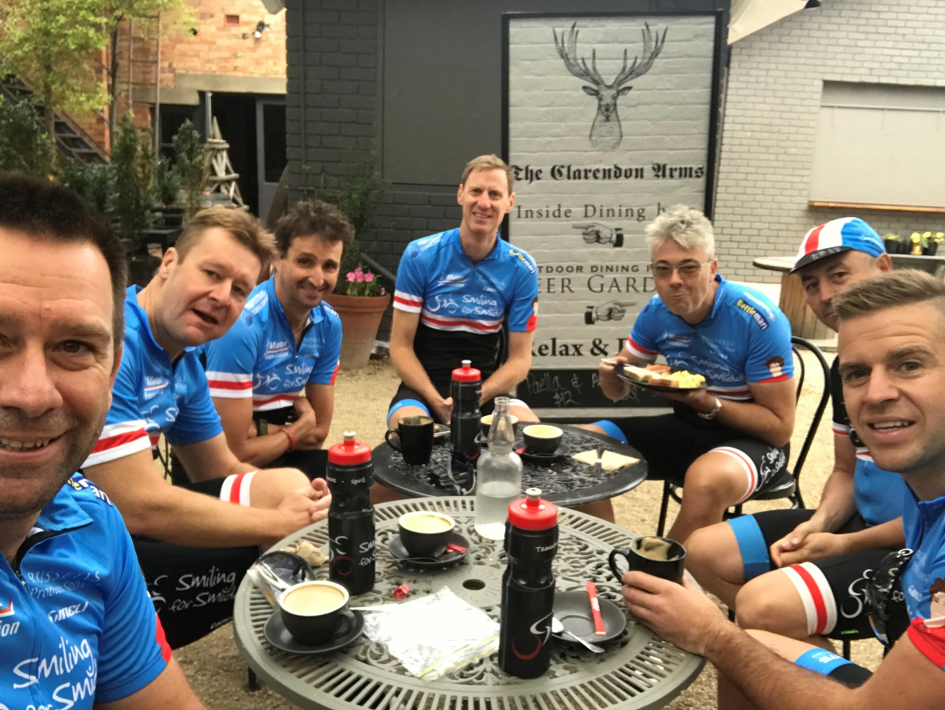 Smiling for Smiddy Team Harcourts (Tas ride 2018)