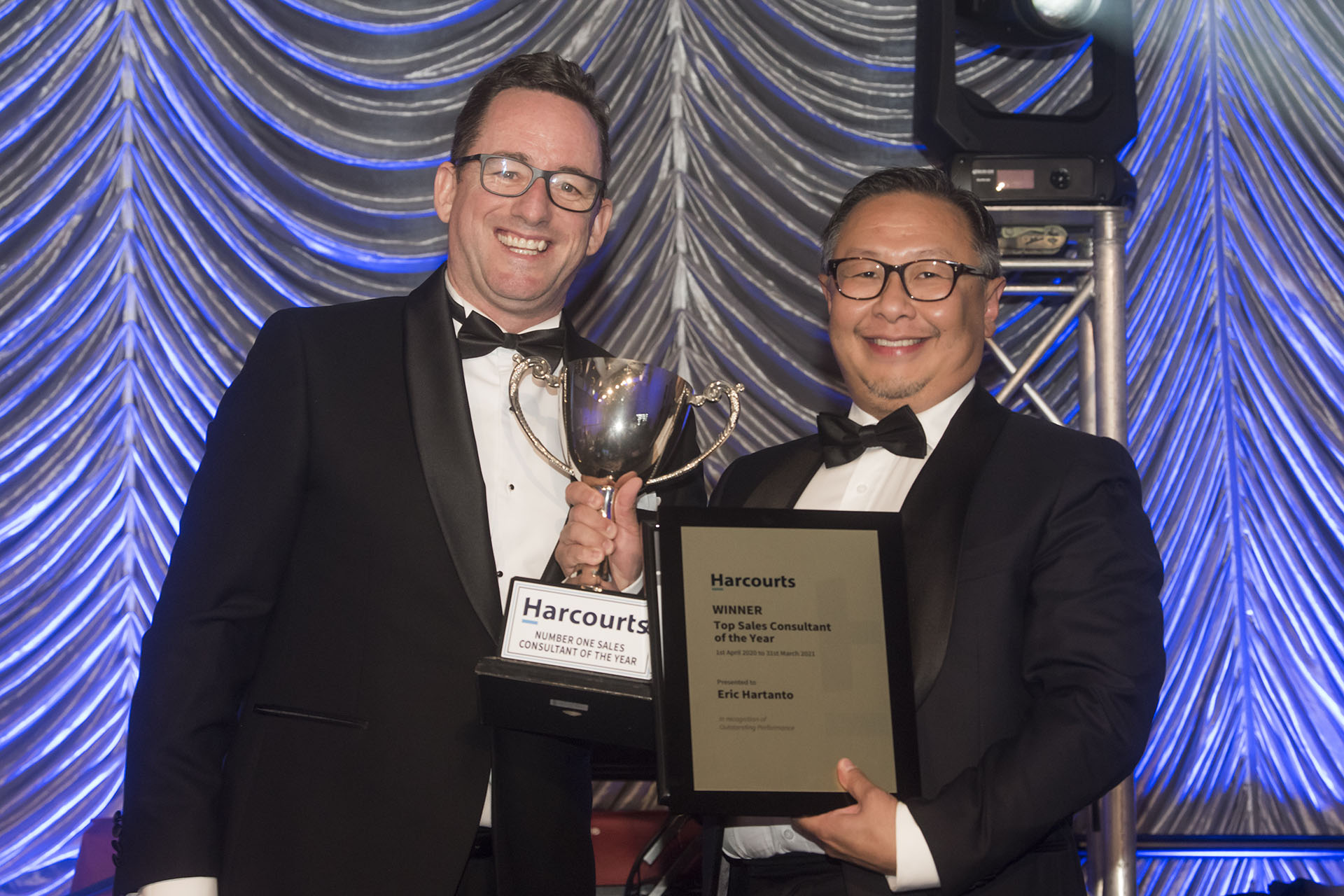 Eric Hartanto named#1 Agent in Western Australia at Harcourts National Awards