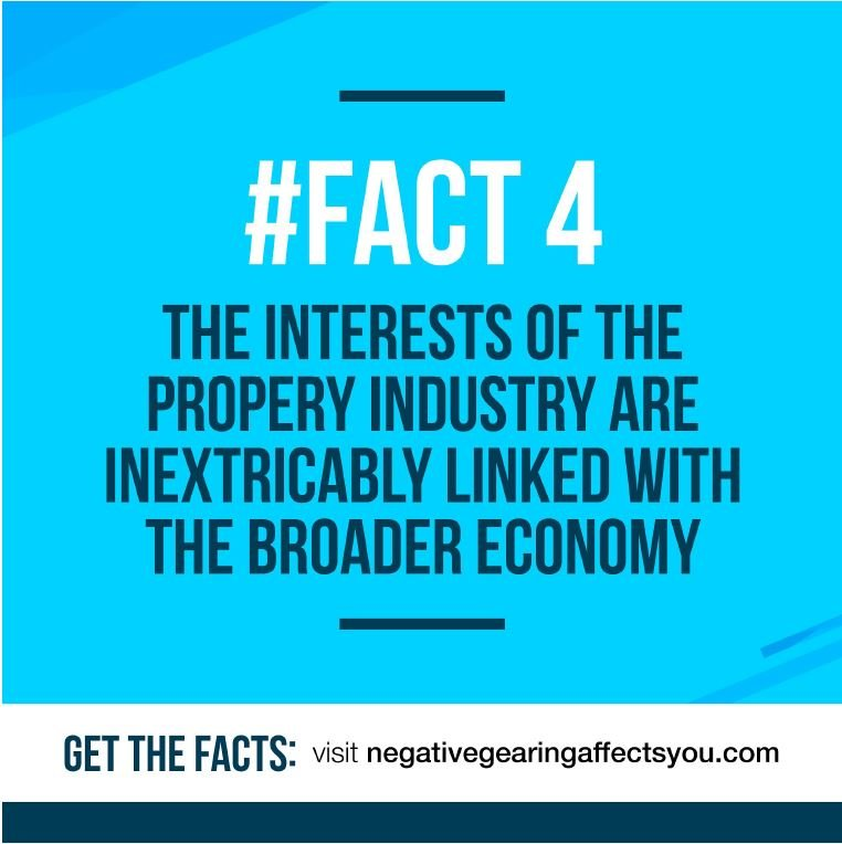 Negative gearing #Fact 4: The interests of the property industry are inextricably linked with the broader community