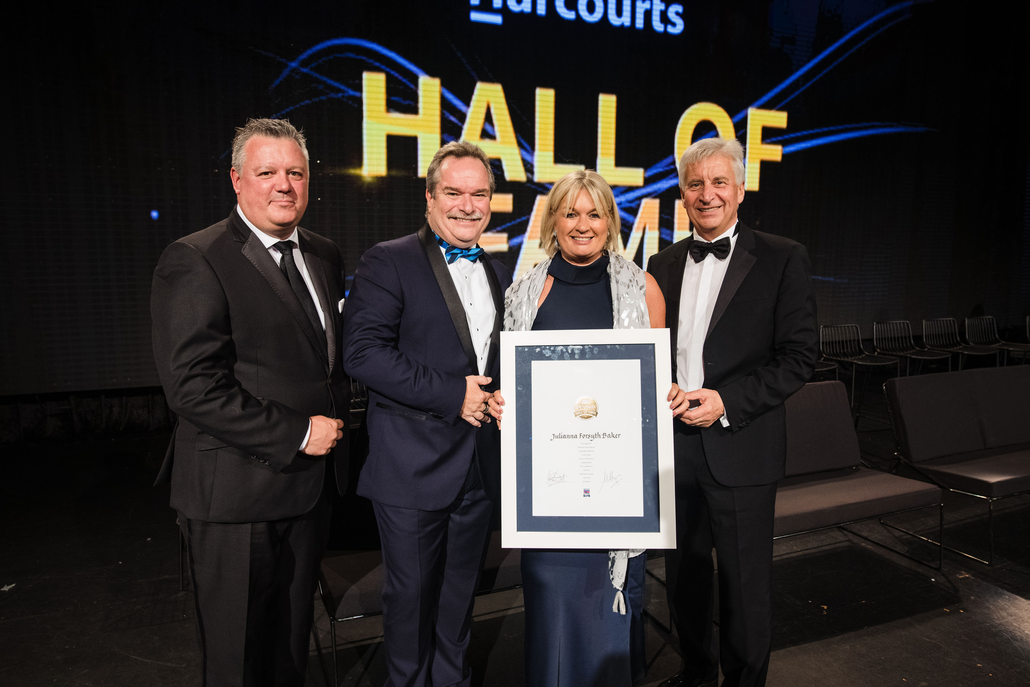 Julianna Forsyth Baker Inducted into the Harcourts Hall of Fame